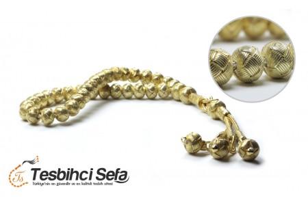 1000 Ayar Altın Kaplama Kazaz Tesbih