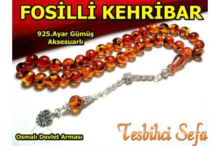 Fosilli Damla Kehribar (Osmanlı Devlet Armalı)